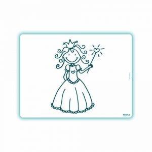 Edwali Herkleurbare Placemat Harten Prinses