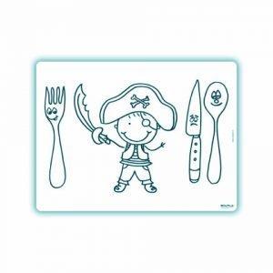 Edwali Herkleurbare Placemat De blije Piraat