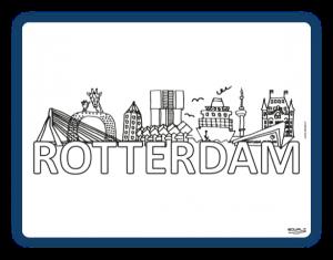 Edwali Herkleurbare Placemat Rotterdam Skyline