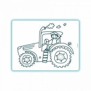 Edwali Herkleurbare Placemat Tractor Billy