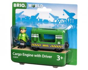 BRIO Trein Vrachtlocomotief met machinist